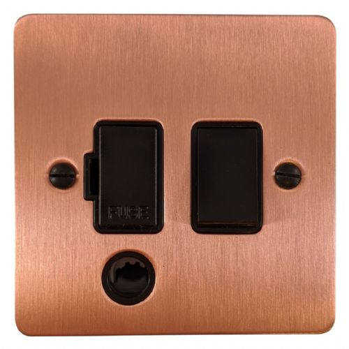 G&H FRG56B Flat Plate Rose Gold 1 Gang Fused Spur 13A Switched & Flex Outlet